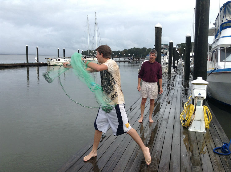 Rainy Day projects on the boat!