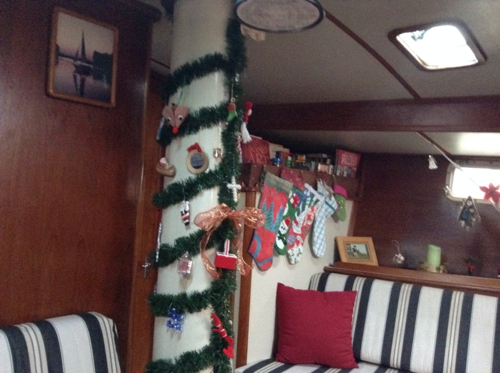 christmas on a sail boat